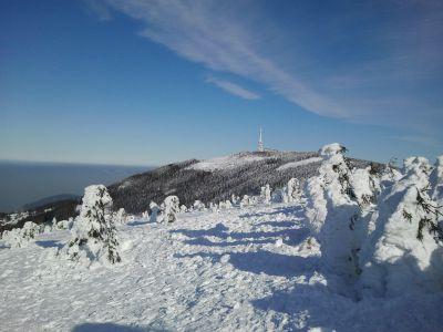 Zima na Beskidzie Śląskim, Skrzyczne